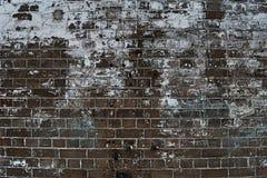 Kornbild av bakgrund för tegelstenstenvägg i detalj- och texturpatte arkivfoto