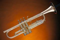 kornett isolerad trumpetyellow Arkivbild