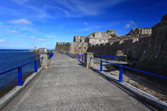 Kornett-Schloss Guernsey stockbilder