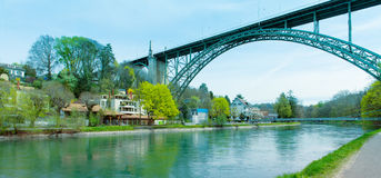 The Kornhausbrucke bridge in Bern, HDR Royalty Free Stock Photos