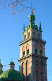 Korniakt tower in Lviv, Ukraine Royalty Free Stock Photos