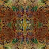 Kornigt blom- orientalisk prydnadbakgrund för vattenfärg vektor illustrationer