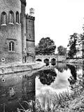 Kornik城堡 在黑白的艺术性的神色 免版税库存图片