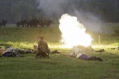 Kornilovs augmentant le peloton se couchant Photographie stock libre de droits