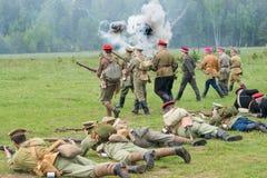 Kornilovs wycieczkuje oddziału łgarskiego puszek Zdjęcie Stock