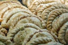 Kornische Pasteten auf Anzeige in einem Speicher Lizenzfreie Stockbilder