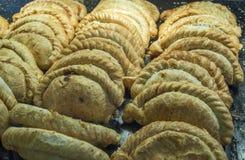 Kornische Pasteten auf Anzeige in einem Speicher Lizenzfreie Stockfotos