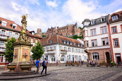 Kornmarkt in Heidelberg Stock Images