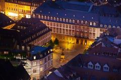 Kornmarkt square during night time in  Heidelberg Royalty Free Stock Photo