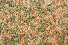 Kornmischungshintergrund Stockfoto