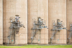 Kornsilor Grong Grong NSW Arkivbilder