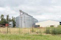 Kornsilor i Bergville Arkivfoto