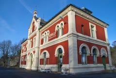 Kornsjø Station 2. Kornsjø staion is a railway station in Østfold line. Kornsjø station is located in Halden municipality, on the border to Sweden. The Royalty Free Stock Photo