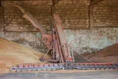 Kornspeicher, der Landwirtschaftsaufzug verarbeitet Lizenzfreies Stockfoto
