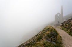 Kornwalijska Blaszana kopalnia przy Wheal Coates zdjęcia stock