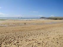 Kornwalijska plaża Zdjęcia Stock