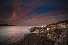 Kornwalijska wioska rybacka Coverack zdjęcie royalty free