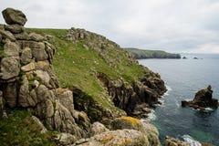 Kornwalijskie granitowe falezy Fotografia Royalty Free