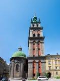 Kornyakt `s Kontrollturm in Lviv Lizenzfreie Stockbilder