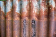 Korodujący żelazo fotografia stock