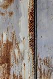 Korodujący białego metalu tło Obrazy Stock