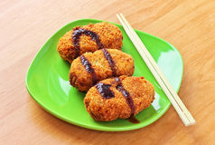 Korokke, japanese potato croquettes Royalty Free Stock Photography