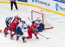 A. Korolyov (42) attack the gate Royalty Free Stock Image