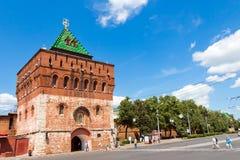Koromyslova torn (strålen), Kreml, Nizhegorodskiy område, Royaltyfri Bild