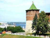 Koromyslova tower of Nizhny Novgorod Kremlin Royalty Free Stock Images