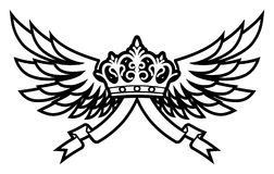 koron skrzydła Zdjęcie Stock