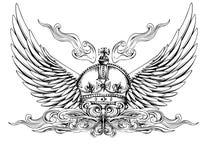 koron skrzydła Royalty Ilustracja