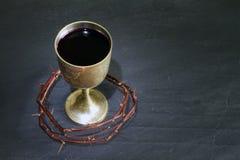 Korona ciernie i święty krwionośny religii pojęcie Fotografia Royalty Free