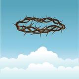 Korona ciernie w niebie Royalty Ilustracja