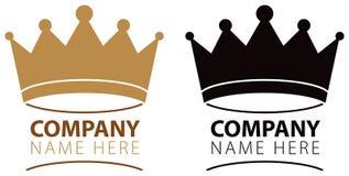 Korona logo Obrazy Royalty Free