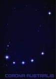 Korona słoneczna Australis gwiazdozbiór Obrazy Royalty Free
