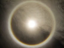 Korona słoneczna w niebie. Obraz Royalty Free