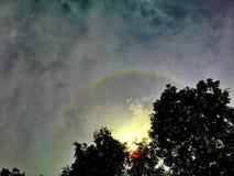 Korona słoneczna z niebieskim niebem Zdjęcia Royalty Free