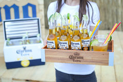 Korona słoneczna zmierzchów sesi przyjęcie w Zagreb, Chorwacja Obraz Stock