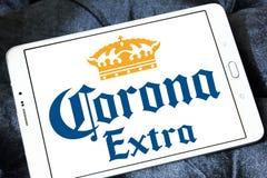 Korona słoneczna ekstra piwny logo Obrazy Royalty Free