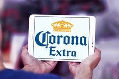 Korona słoneczna ekstra piwny logo Zdjęcia Stock