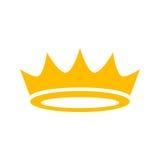 Korona wektoru ikona Zdjęcie Royalty Free
