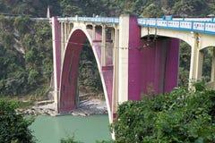 Koronacja most, Zachodni Bengalia, India Zdjęcia Royalty Free