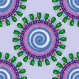 Koronavirus Nahtloses Muster ENV 10 Lizenzfreies Stockbild