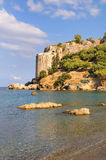 Koroni Castle in Messinia, Greece. The castle of the historic town of Koroni in the Messinia area, Greece Royalty Free Stock Photos