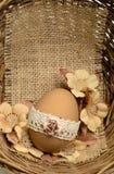 Koronka dekorujący Wielkanocny jajko Obrazy Royalty Free