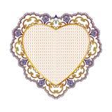 Koronka dla dnia, serce i Obrazy Royalty Free