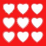 Koronka dla, serce i Zdjęcie Royalty Free