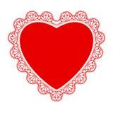 Koronka dla, serce i Zdjęcie Stock