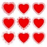Koronka dla, serce i Obraz Royalty Free