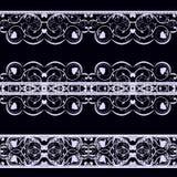 Koronka na czerni Zdjęcia Stock
